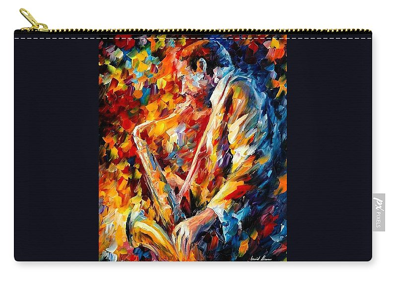 Music Carry-all Pouch featuring the painting John Coltrane by Leonid Afremov