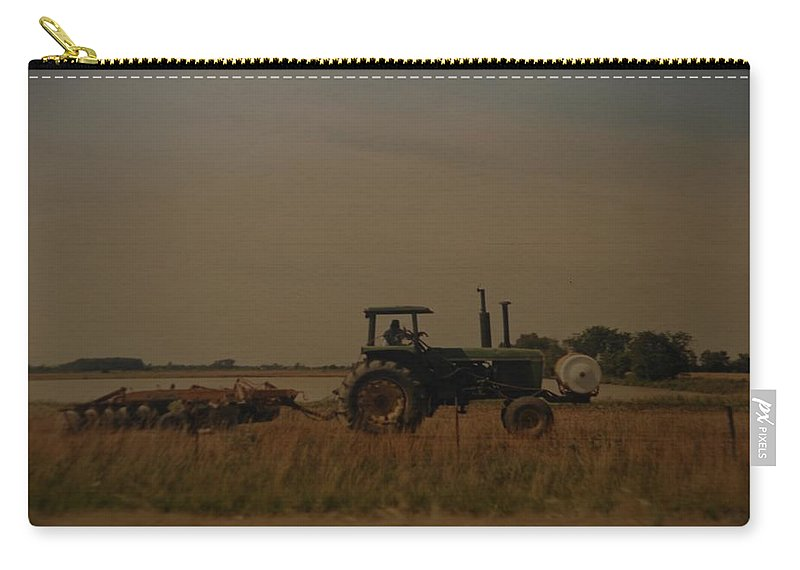 Arkansas Carry-all Pouch featuring the photograph John Deere Arkansas by Rob Hans