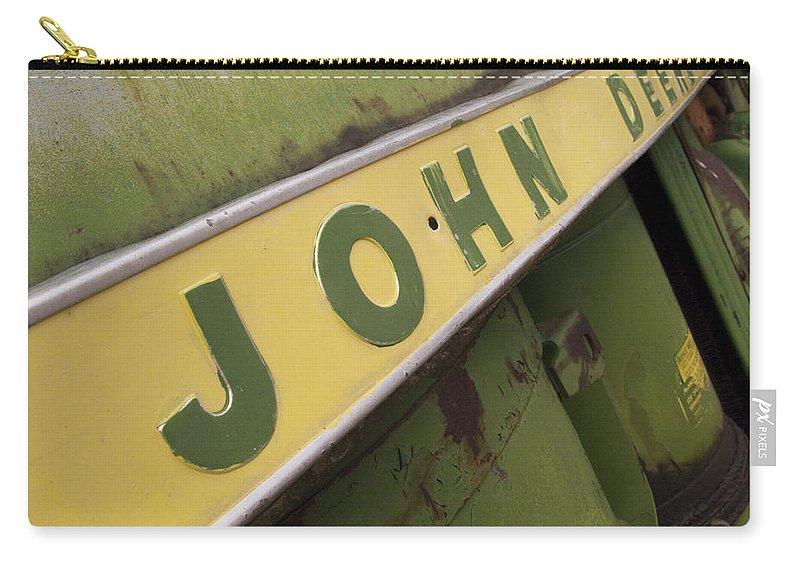 John Deere Carry-all Pouch featuring the photograph John Deere by Jeffery Ball