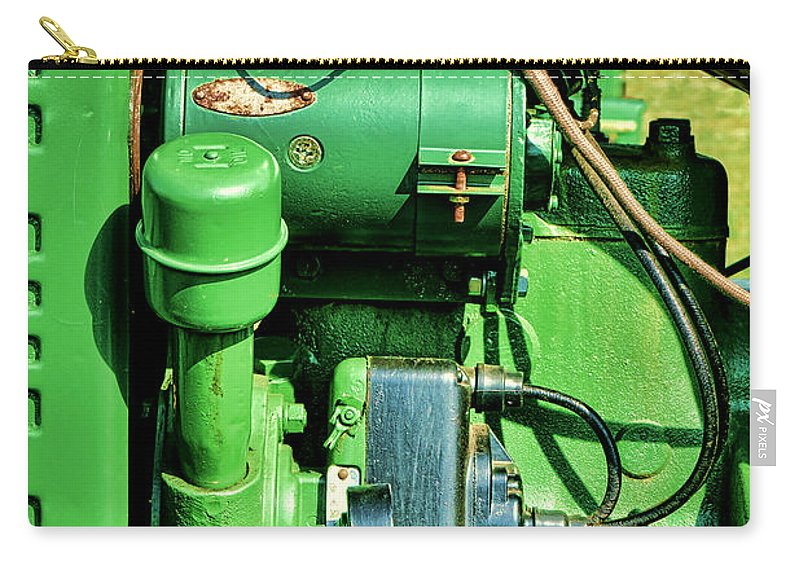 John Carry-all Pouch featuring the photograph John Deere Tractor Engine Detail by Olivier Le Queinec