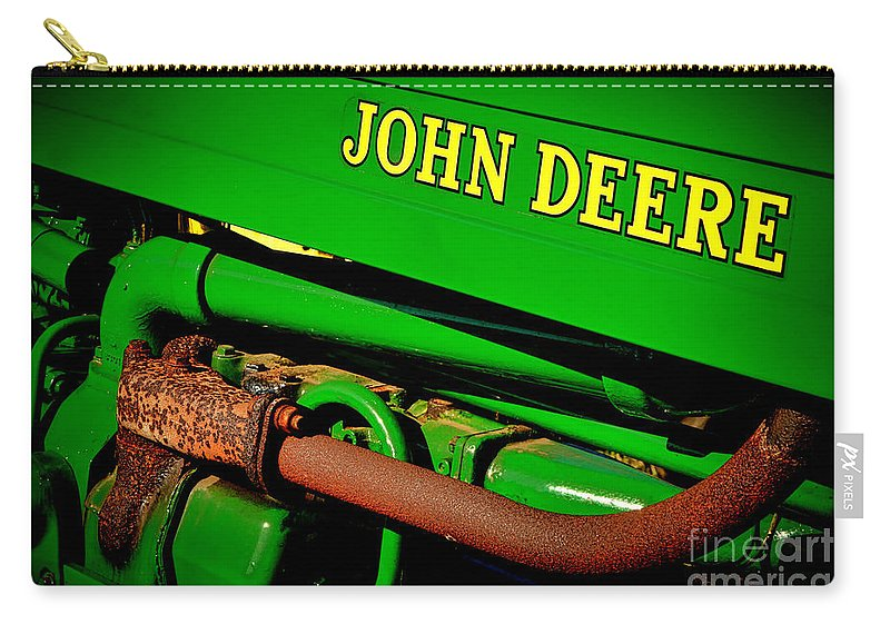 John Carry-all Pouch featuring the photograph John Deere Tractor Mystery by Olivier Le Queinec