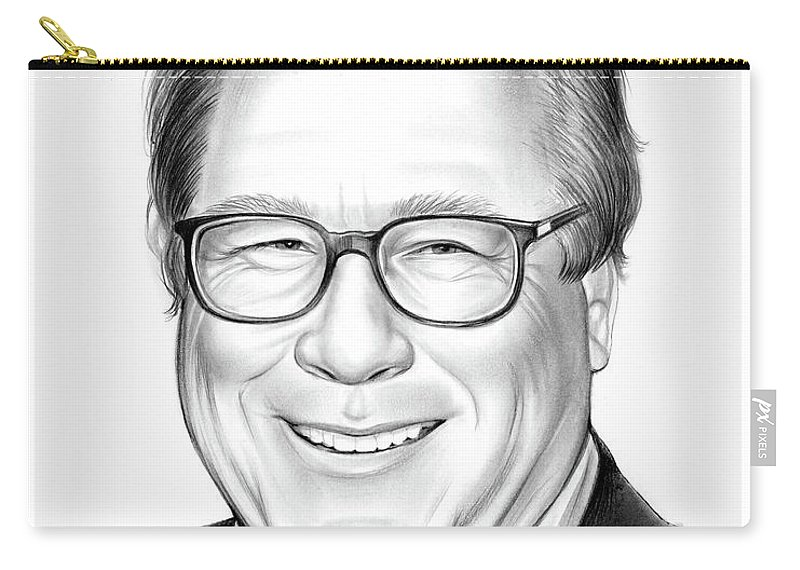 Rip Carry-all Pouch featuring the drawing John Heard by Greg Joens