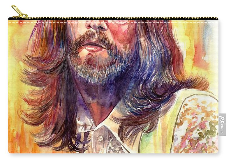 John Lennon Carry-all Pouch featuring the painting John Lennon watercolor by Suzann Sines