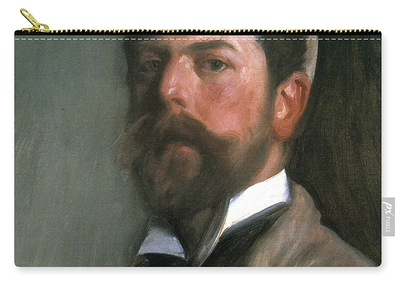 1892 Carry-all Pouch featuring the photograph John Singer Sargent by Granger