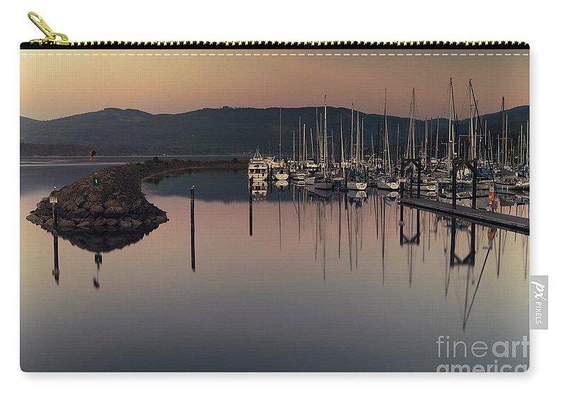 Marina Carry-all Pouch featuring the photograph John Wayne Marina by Karen Goodwin