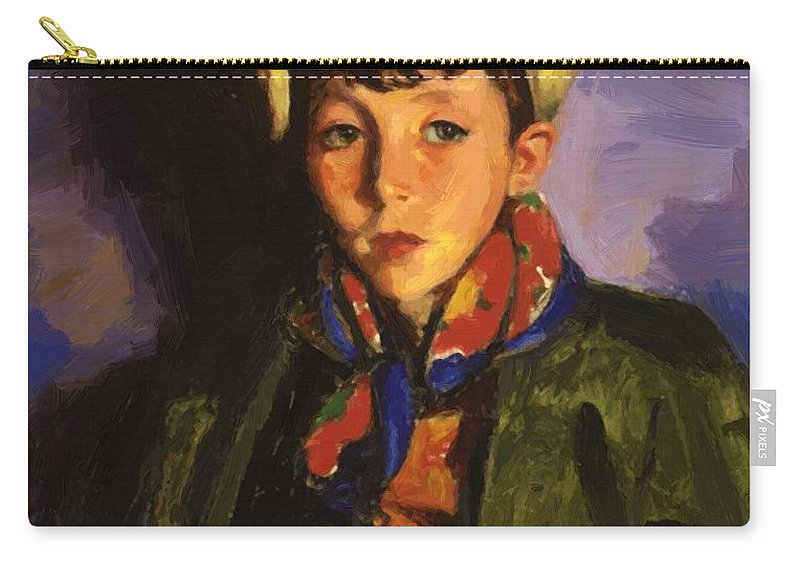 Johnnie Carry-all Pouch featuring the painting Johnnie Patton 1924 by Henri Robert