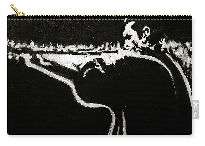 Johnny Cash Carry-all Pouch featuring the painting Johnny Cash by Pete Maier
