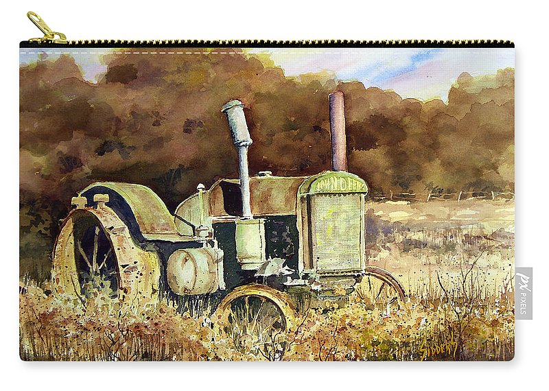 Tractor Carry-all Pouch featuring the painting Johnny Popper by Sam Sidders