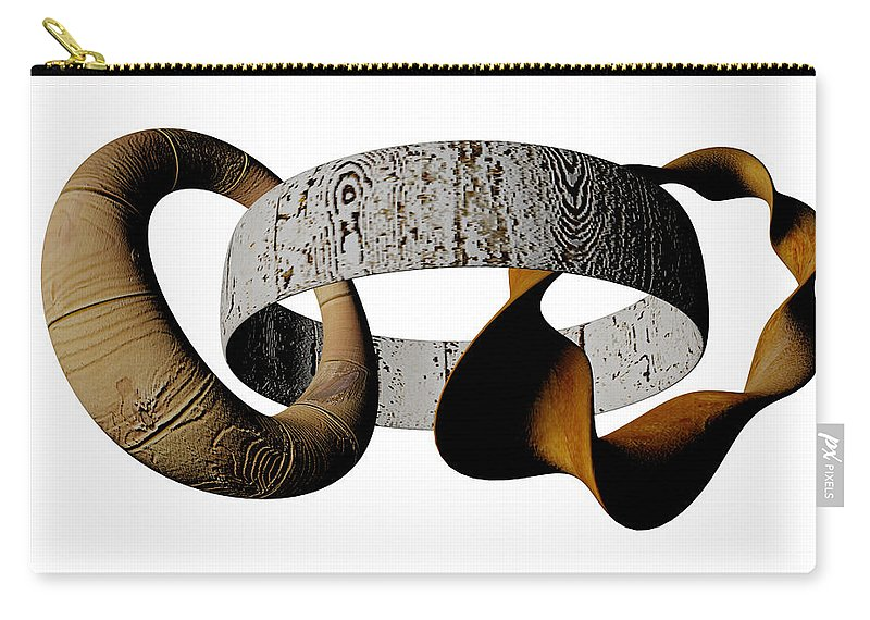 Circle Carry-all Pouch featuring the digital art Join Circles by R Muirhead Art