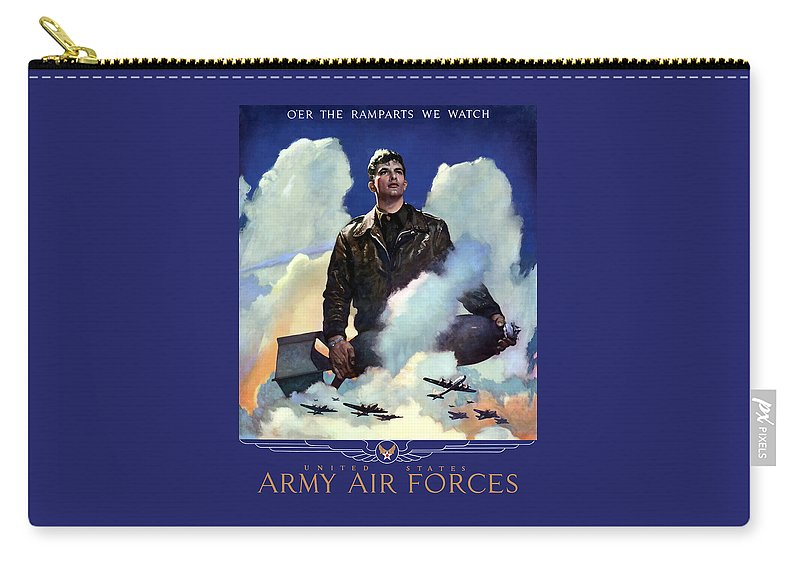 Air Force Carry-all Pouch featuring the painting Join The Army Air Forces by War Is Hell Store