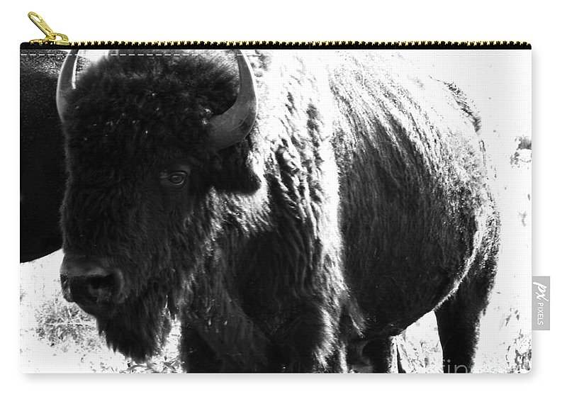 Buffalo Carry-all Pouch featuring the photograph Join The Party by Amanda Barcon