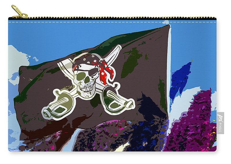 Jolly Roger Carry-all Pouch featuring the painting Jolly Roger by David Lee Thompson