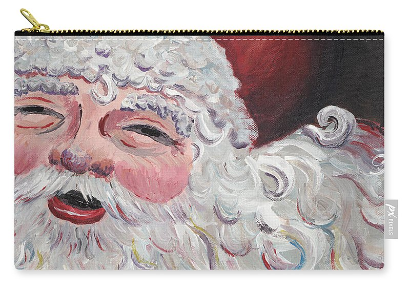 Santa Carry-all Pouch featuring the painting Jolly Santa by Nadine Rippelmeyer