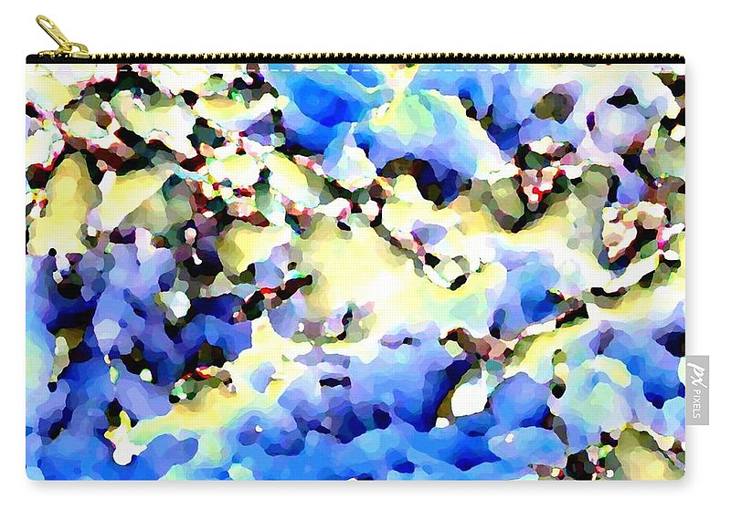 Abstract Carry-all Pouch featuring the digital art Jolly Winter Blues by Will Borden