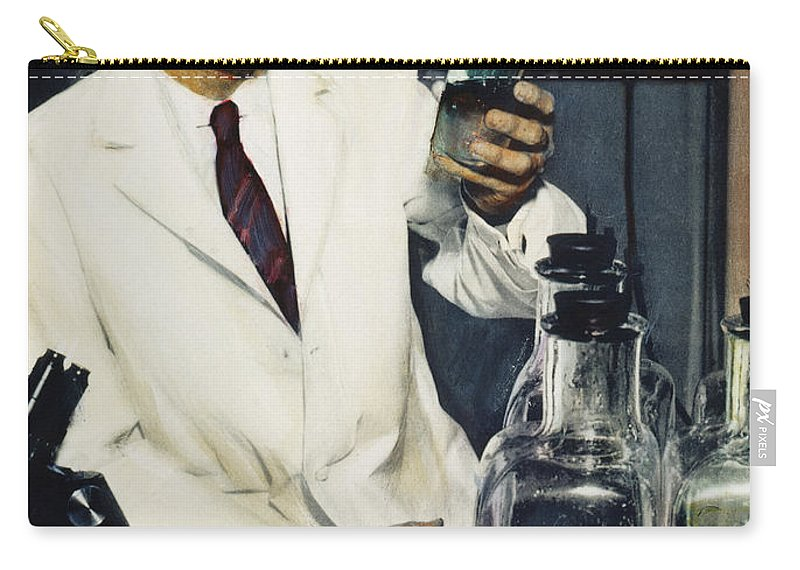 1950s Carry-all Pouch featuring the photograph Jonas Salk (1914-1995) by Granger
