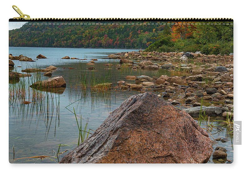 Acadia Carry-all Pouch featuring the photograph Jordan Pond by Gary Lengyel