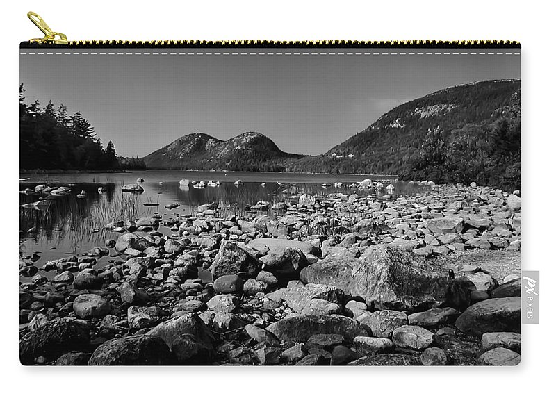 Design Carry-all Pouch featuring the photograph Jordan Pond No.2 by Mark Myhaver