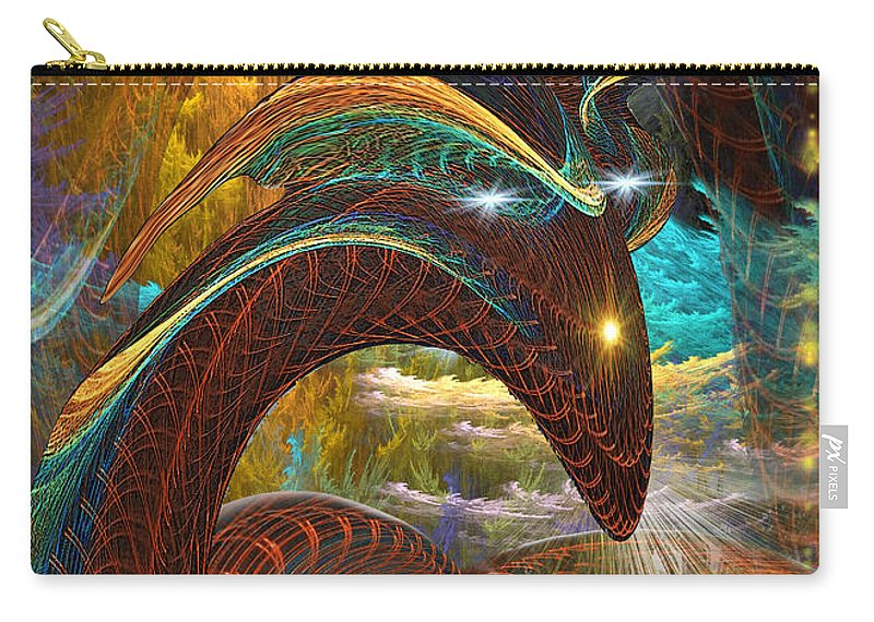Phil Sadler Carry-all Pouch featuring the digital art Jorrmungand by Phil Sadler