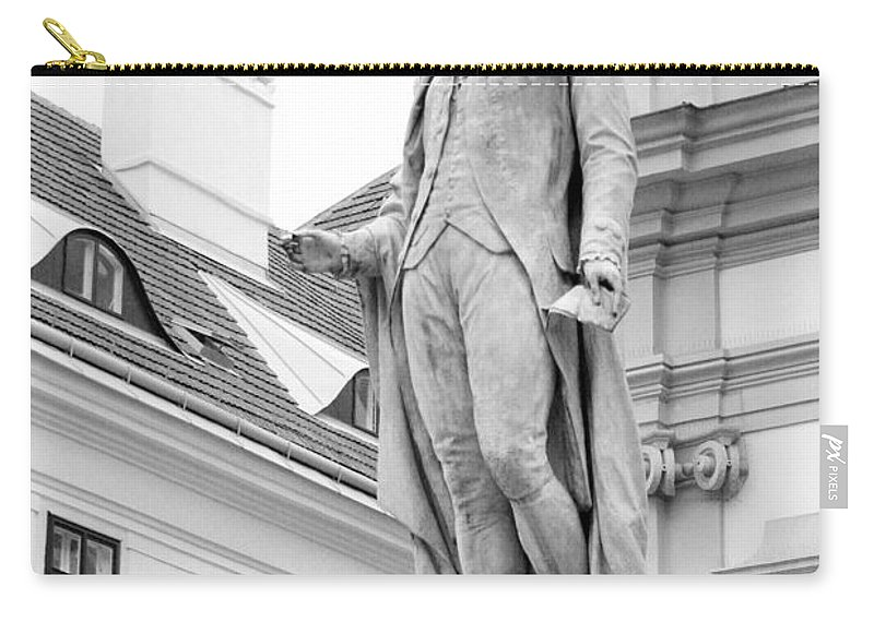 Architecture Carry-all Pouch featuring the photograph Josef Haydn In Black And White by Angela Rath