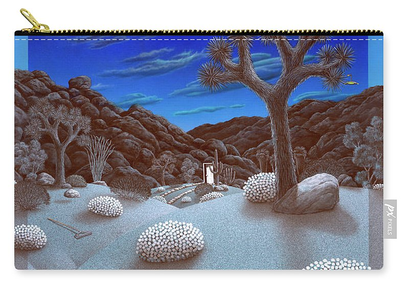 Landscape Carry-all Pouch featuring the painting Joshua Tree At Night by Snake Jagger