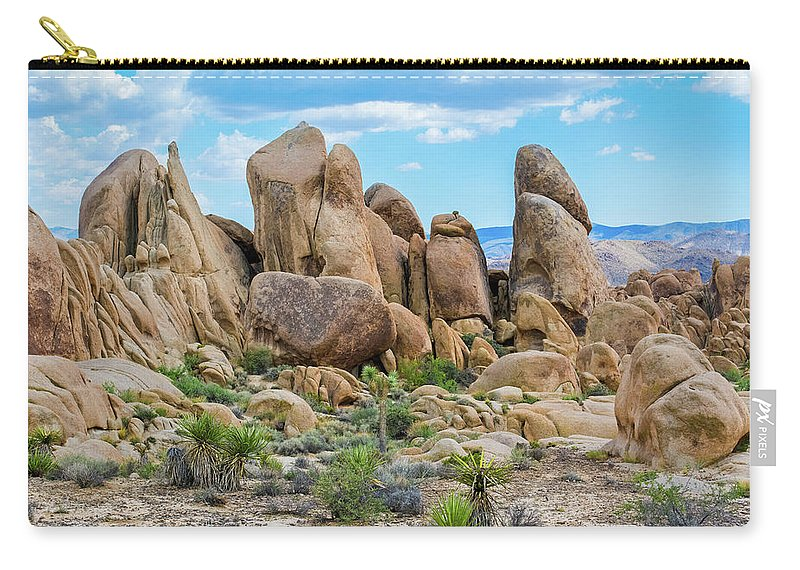 Joshua Tree Carry-all Pouch featuring the photograph Joshua Tree Boulders by Kyle Hanson