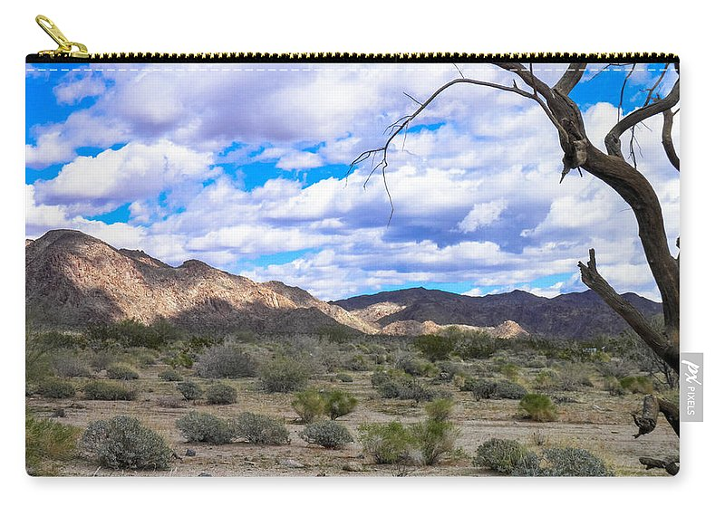 Tumbleweeds Carry-all Pouch featuring the photograph Joshua Tree National Park Landscape by Stephen Settles