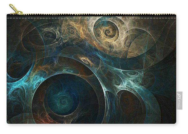 Digital Painting Carry-all Pouch featuring the digital art Journey by David Lane