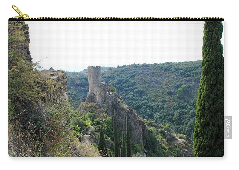 Châteaux De Lastours Carry-all Pouch featuring the photograph Journey by Margaret Fronimos