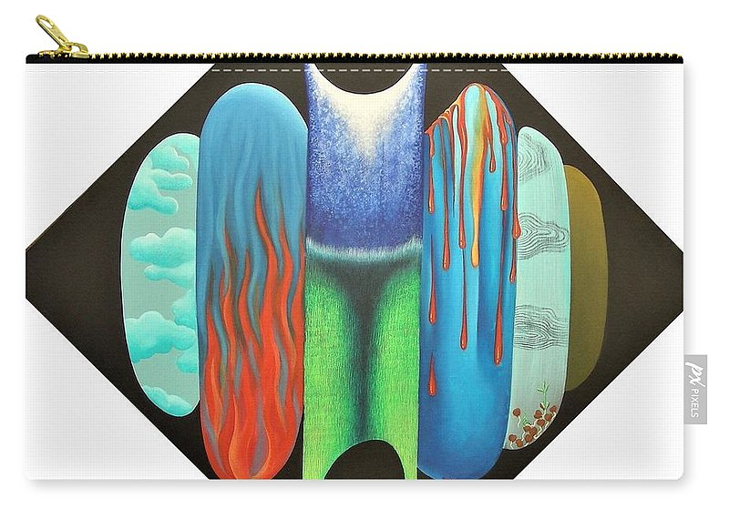 Romantic Carry-all Pouch featuring the painting Journy- 15 by Raju Bose