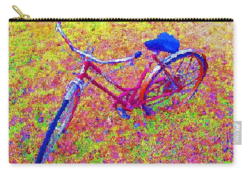 Bike Carry-all Pouch featuring the photograph Joy, The Bike Ride by Albert Stewart