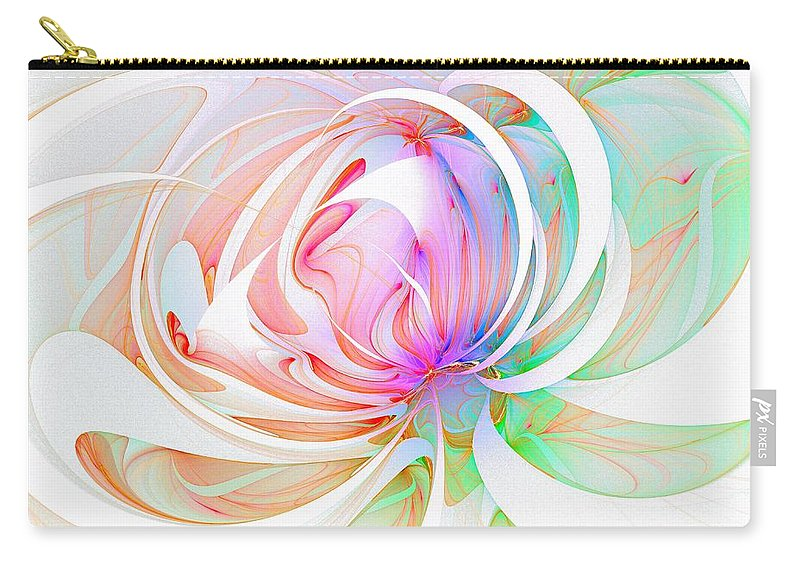 Digital Art Carry-all Pouch featuring the digital art Joy by Amanda Moore