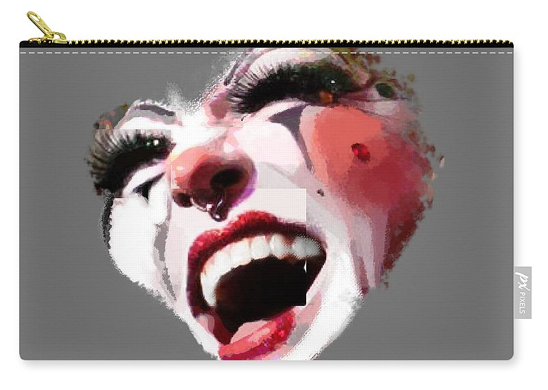 Remix Carry-all Pouch featuring the photograph Joyful Klown by Eddie Rifkind