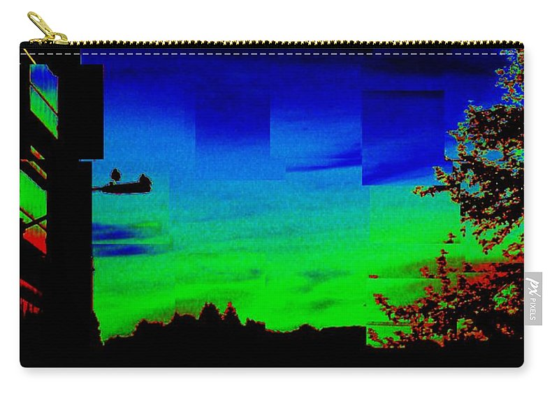 Sunset Carry-all Pouch featuring the photograph Joyin The Sunset Together by Tim Allen