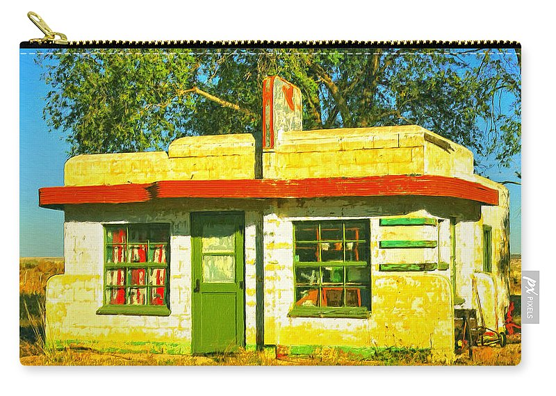 Old Motel Carry-all Pouch featuring the painting Juarez Motel by Dominic Piperata