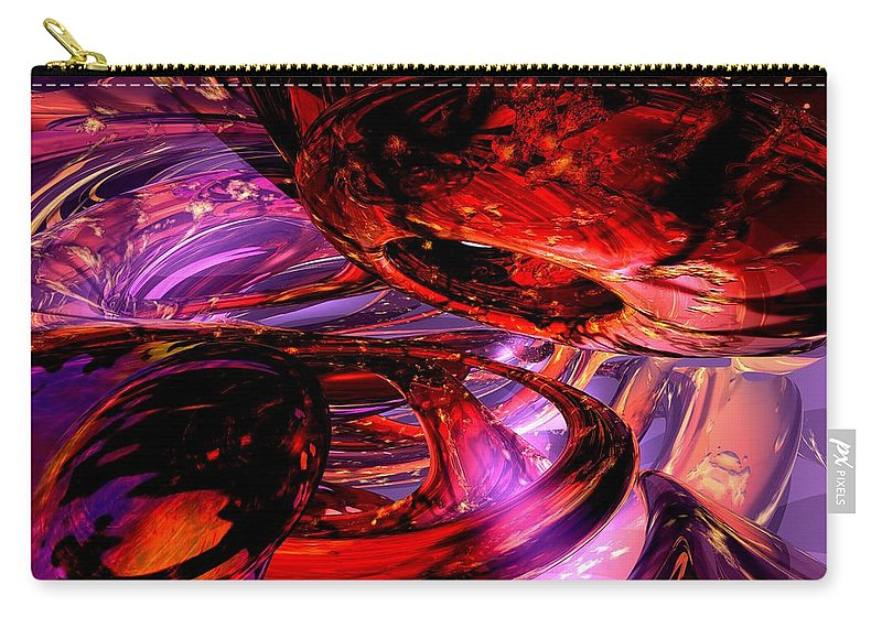 3d Carry-all Pouch featuring the digital art Jubilee Abstract by Alexander Butler