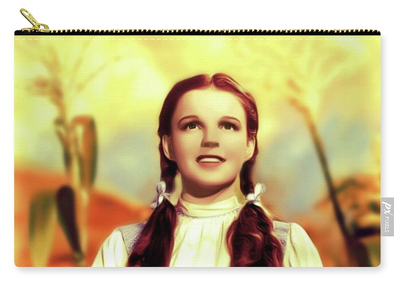 Judy Carry-all Pouch featuring the digital art Judy Garland, Dorothy by Mary Bassett