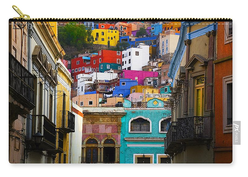 Architecture Carry-all Pouch featuring the photograph Juegos In Guanajuato by Skip Hunt