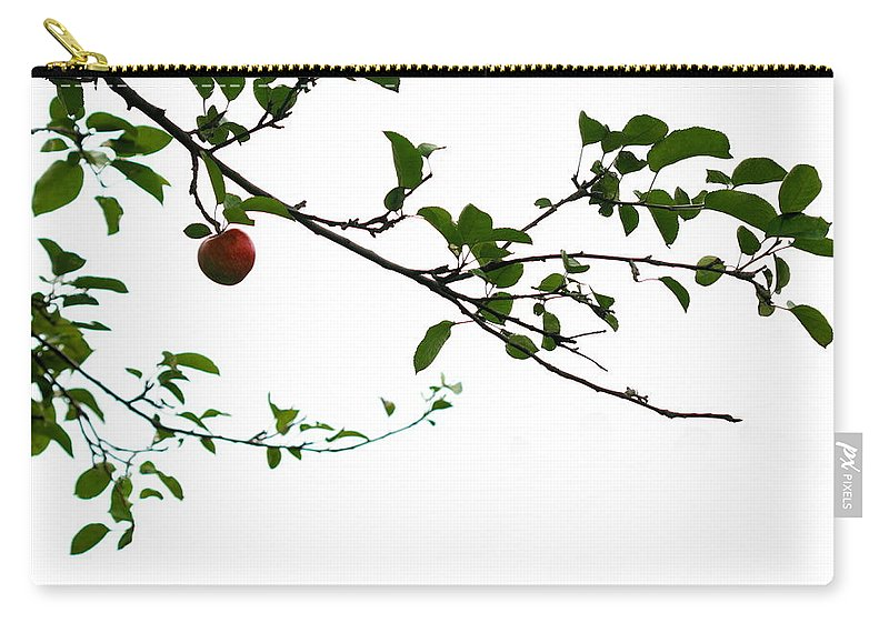 Adam And Eve Carry-all Pouch featuring the photograph Juicy  A Tempting Photograph Of A Tasty Ripe Red Apple On A Tree by Angela Rath