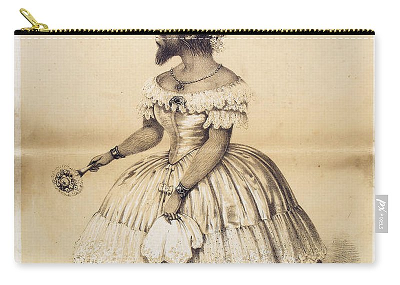 Science Carry-all Pouch featuring the photograph Julia Pastrana, Bearded Lady by Wellcome Images