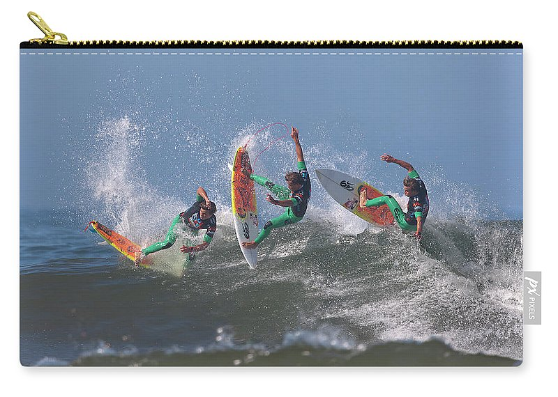 Surf Carry-all Pouch featuring the photograph Julian Wilson Compilation by Brian Knott Photography
