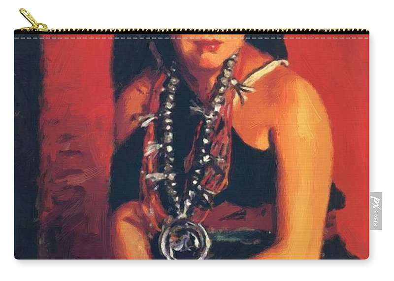 Julianita Carry-all Pouch featuring the painting Julianita 1922 by Henri Robert