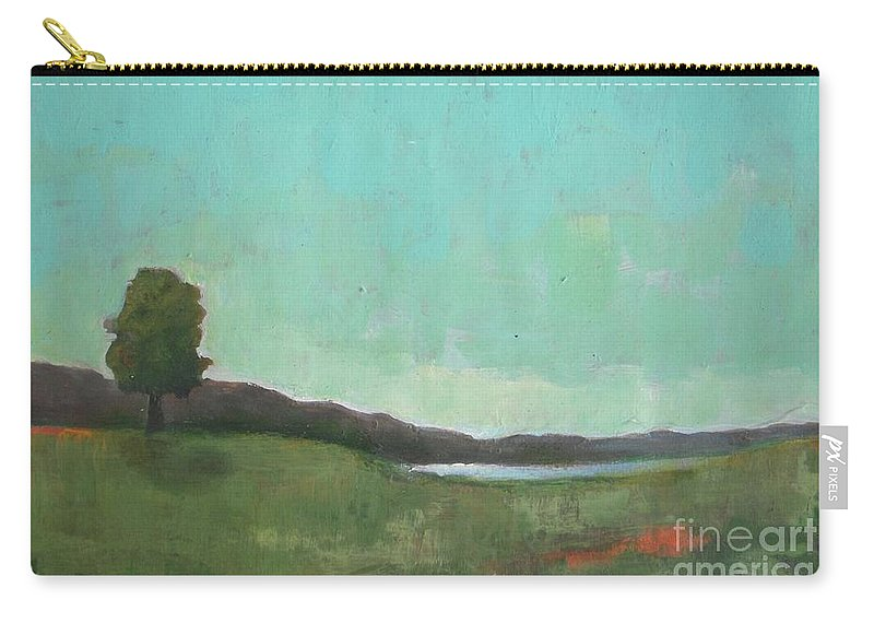 Landscape Carry-all Pouch featuring the painting July 1988 by Vesna Antic