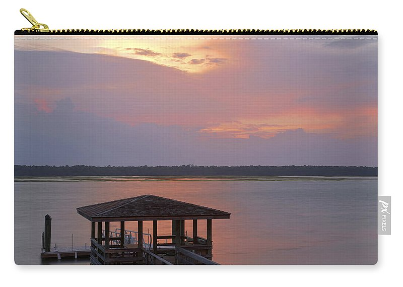 Sunset Carry-all Pouch featuring the photograph July Evening by Phill Doherty