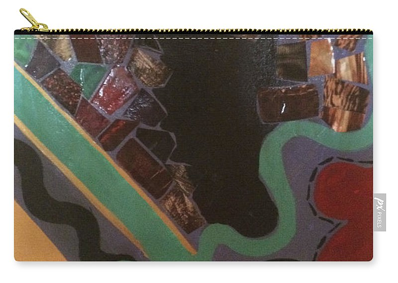 Carry-all Pouch featuring the painting Jumbled by Cynthia Williams