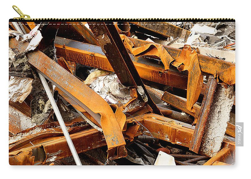 Steel Carry-all Pouch featuring the photograph Jumbled Steel by Jean Macaluso