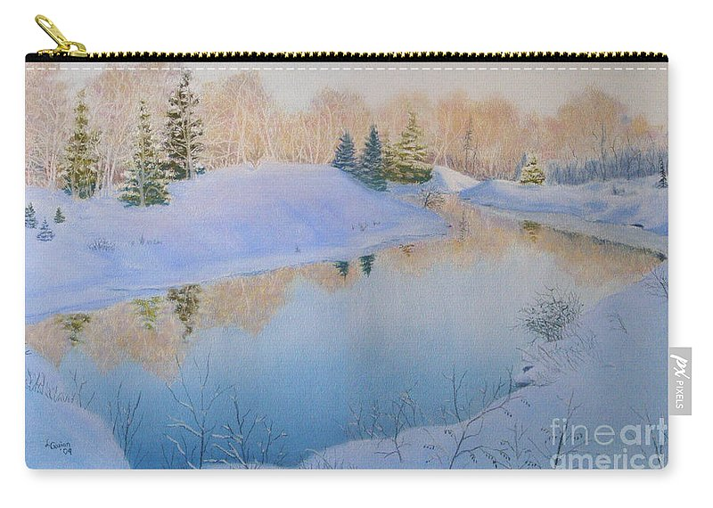 Landscape Carry-all Pouch featuring the painting Junction Creek by Lynn Quinn