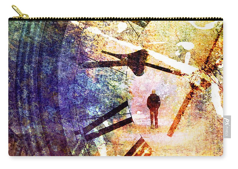 Clock Carry-all Pouch featuring the photograph June 5 2010 by Tara Turner
