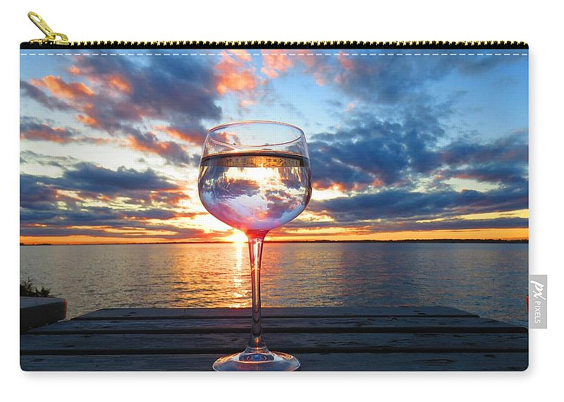 1000 Islands Carry-all Pouch featuring the photograph June Sunset Over Wolfe Island by Dennis McCarthy