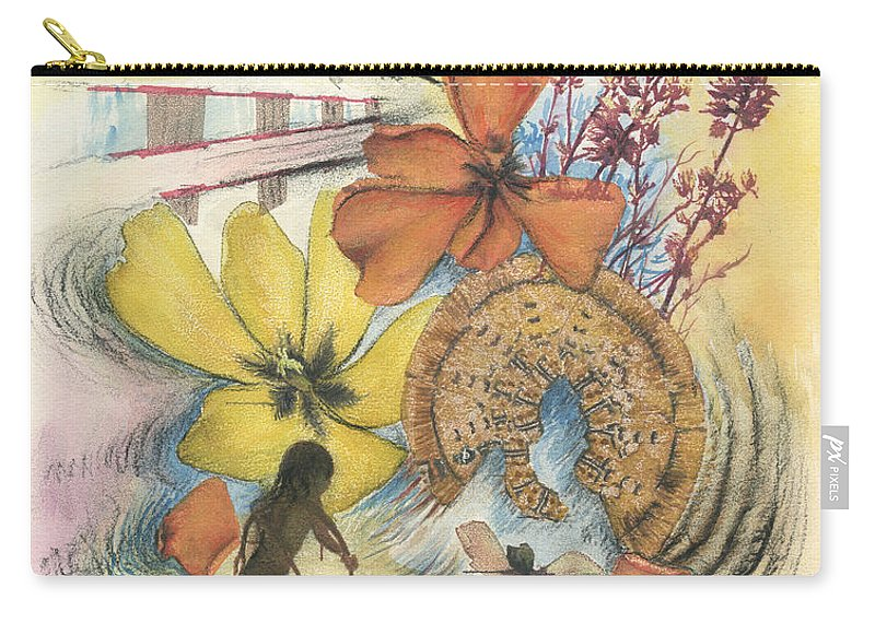 Abstract Carry-all Pouch featuring the digital art June by Valerie Meotti