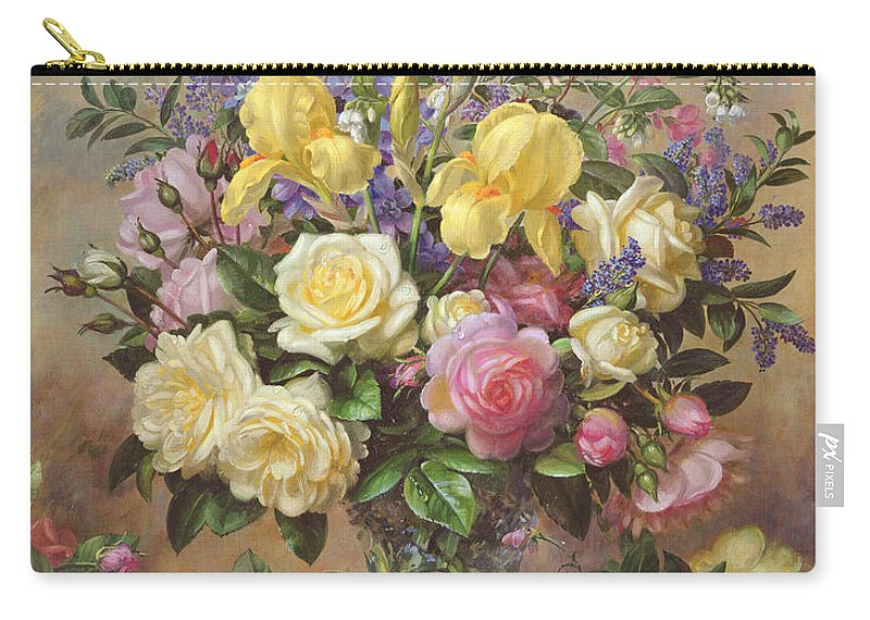 June Carry-all Pouch featuring the painting June's Floral Glory by Albert Williams